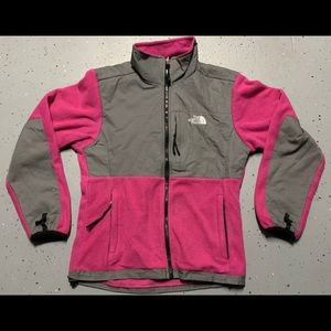 THE NORTH FACE DENALI Pink/Gray Jacket Size Lg